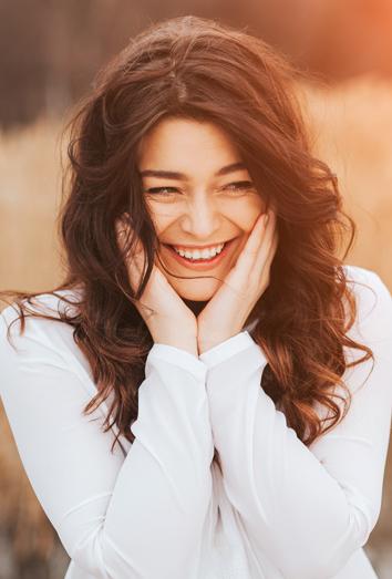 lach liefdevol om jezelf
