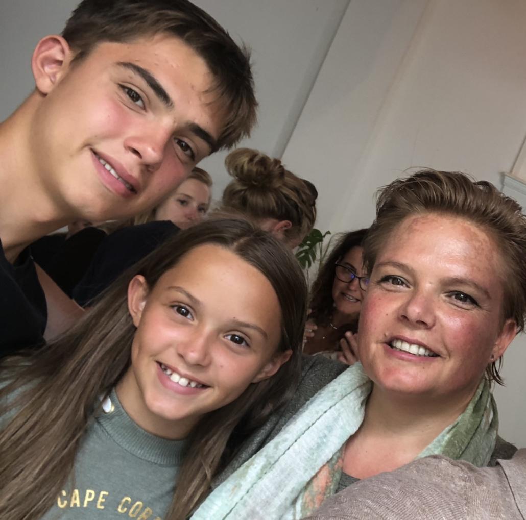 selfie met kids