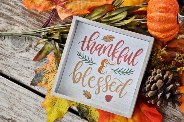 dankbaar en gezegend